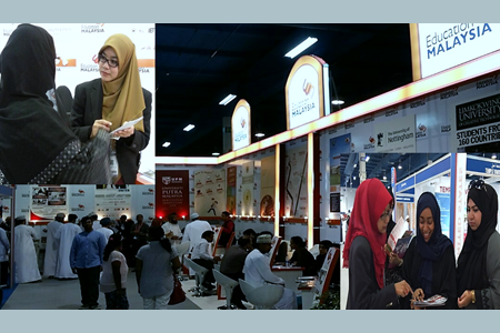Visitors at the UPM booth