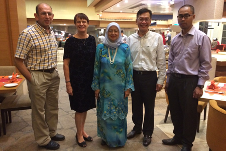 From left: Prof. Dr. Talal Yusaf, Prof. Janet Verbayla, Prof. Datin Paduka Dr. Aini Ideris, Prof. Dr. Bujang Kim Huat and Mr. Saiful