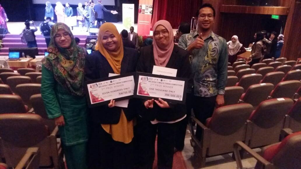 UPM WINS SECOND AND THIRD PRIZES FOR MALAYSIAN 2017 3MT