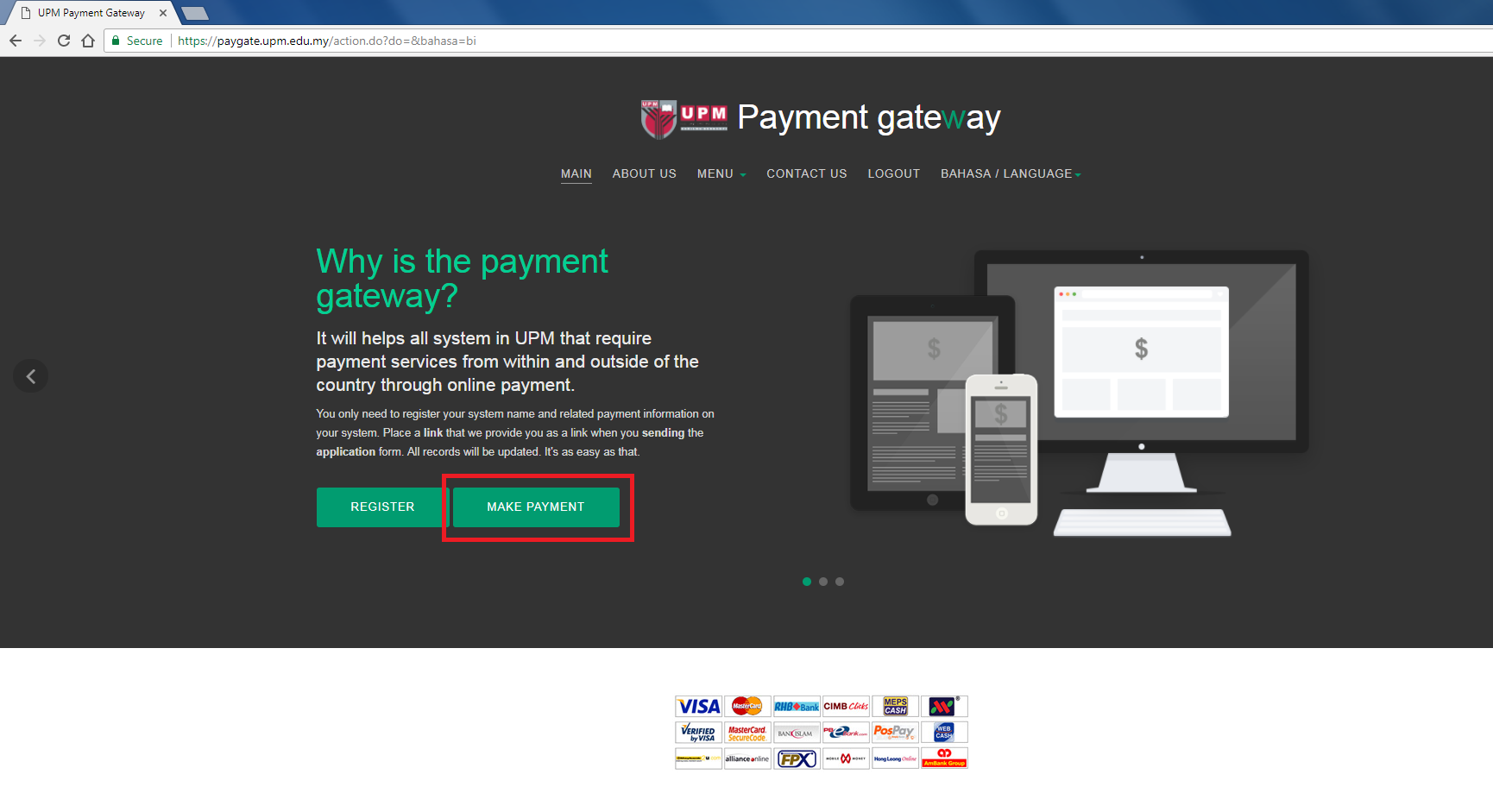 Making Payment Via UPM Payment Gateway   SCHOOL OF GRADUATE STUDIES