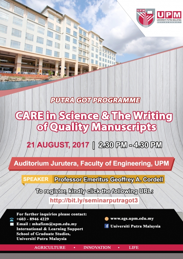 http://www.sgs.upm.edu.my/activities/care_in_science_and_the_writing_of_quality_manuscripts-10563