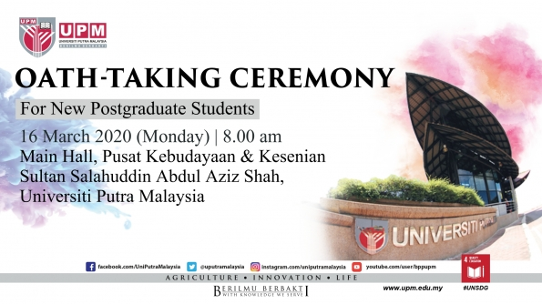 Briefing and Oath-taking Ceremony for New Postgraduate Students 2nd Semester, 2019/2020